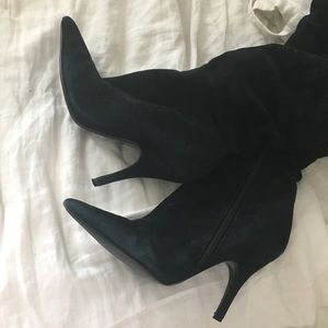 Aldo Shoes - ALDO black boots suede stiletto heel high knee 35
